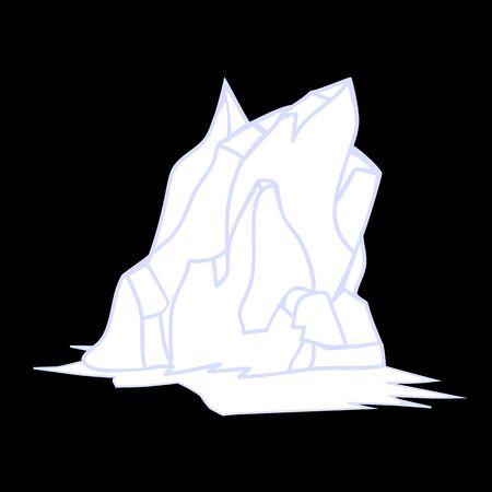 berg: Iceberg Silhouette Icon Symbol Design. Illustration