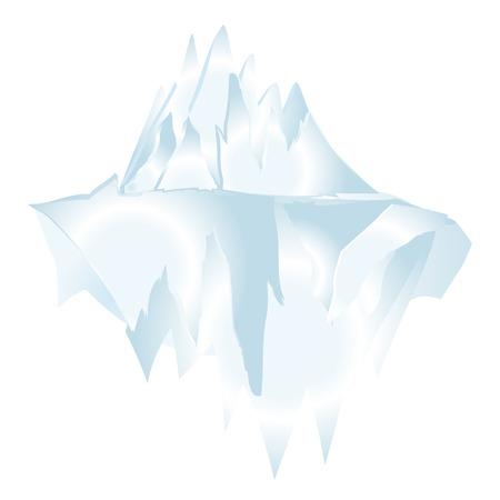 berg: Iceberg Underwater Icon Symbol Design.