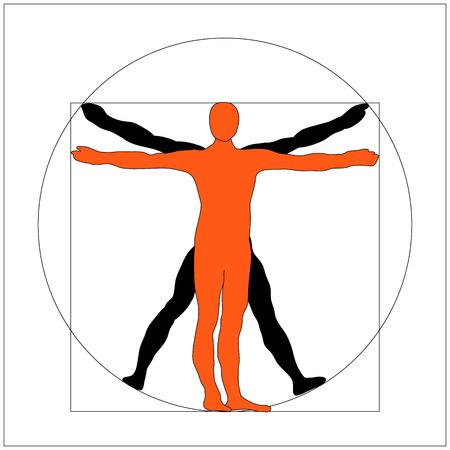 leonardo da vinci: man icon symbol design. Illustration