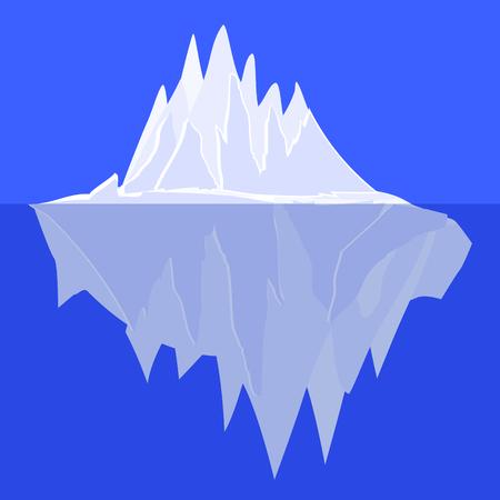 Iceberg Underwater Icon Symbol Design.