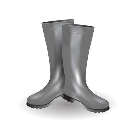 Rain boots icon symbol design.