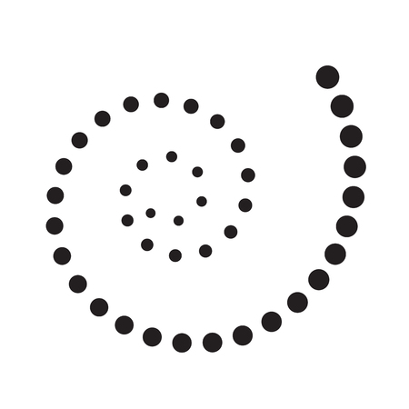 Dotted Spiral Icon Symbol Design. Vector illustration isolated on white background Illustration