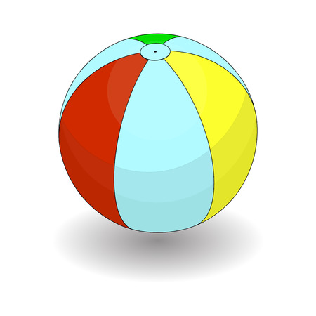 Beach Inflatable Ball Color Icon Illustration