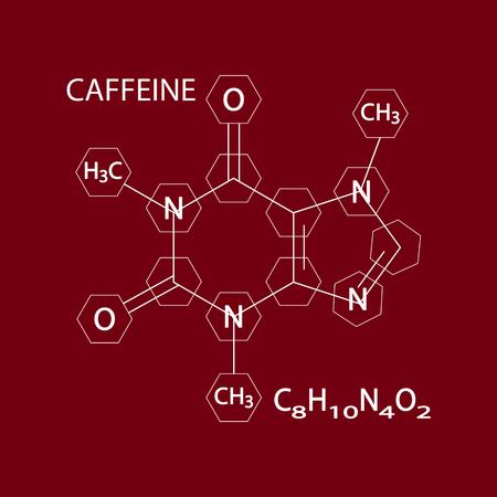 Caffeine Stimulant Molecule Icon