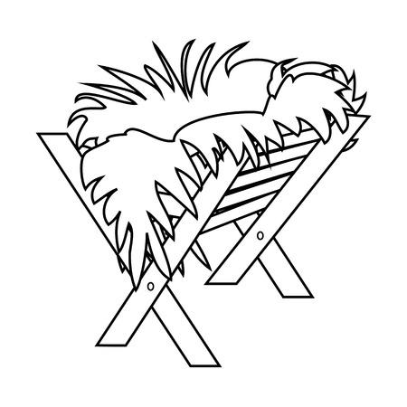 イエスマネージャー。ベクターアウトラインアイコンのシンボルデザイン。白い背景に孤立したベクトルクリスマスイラスト  イラスト・ベクター素材
