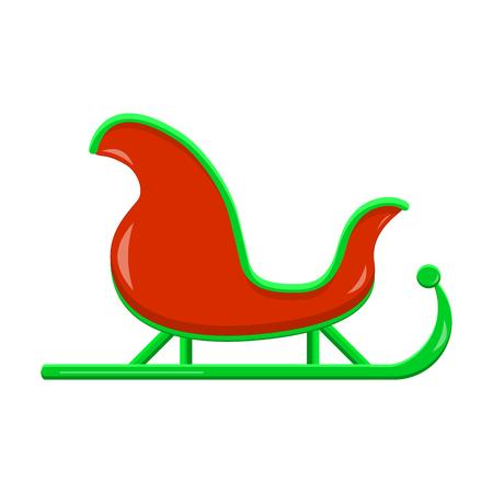Santas Sledge Icon Graphic Symbol Design. Santa sleigh vector illustration isolated on white background.  Vectores