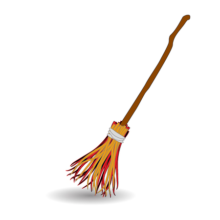Broomstick Icon Symbol Design. Vector illustration isolated on white background. Halloween graphic