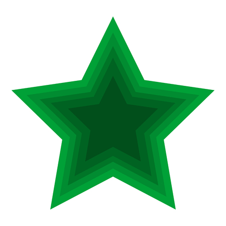 Christmas Green Star Icon Symbol Design. Vector Christmas decoration of green color isolated on white background. Christmas star for design, card, invitation, print.