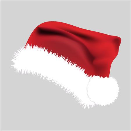 Santa Hat Icon Symbol Design. Vector Christmas  illustration isolated on grey background Illustration