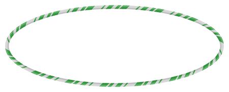 Candy Cane Frames Border Ellipse Shape. Vector christmas design isolated on white background
