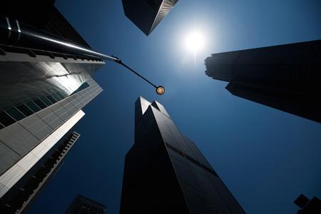 scyscrapers, Chicago loop, architecture Banque d'images