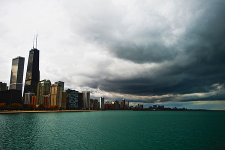 lake shore drive: Storm in Chicago