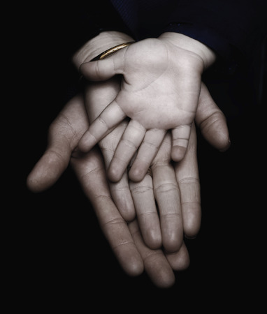 two generation family: Family hands