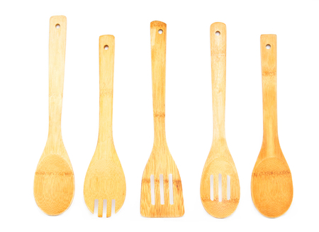 Wooden kitchen utensils Imagens - 50658035