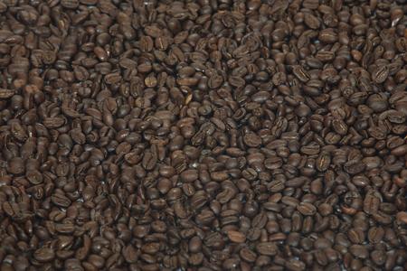acidity: Coffee beans background Stock Photo
