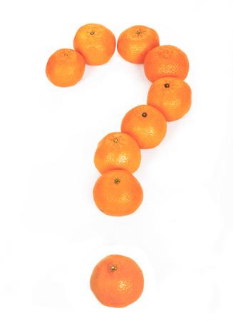Tangerines, question mark