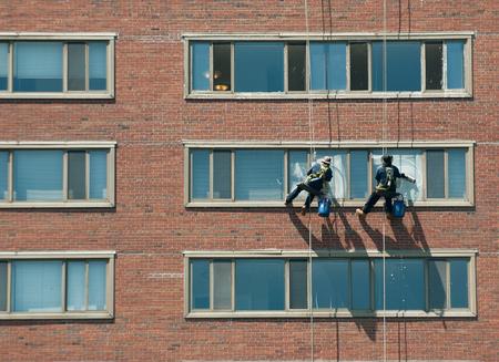 Window washing Zdjęcie Seryjne