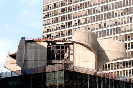 demolishing: Demolition and construction