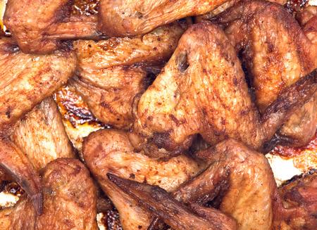 Fried chicken wings on plate