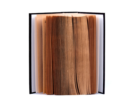 Open book separated on white background Stock Photo