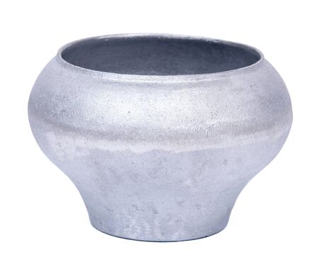 ancient blacksmith: Cast iron pot, cauldron on white background