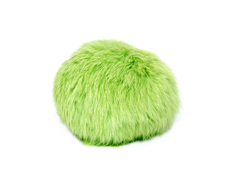 cat toy: Green cat toy separated on white background