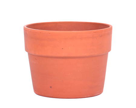 clay pot: Decorative clay pot separated on white background
