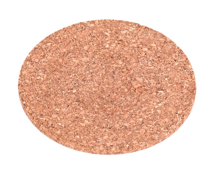 Round cork board separated on white background Stock Photo