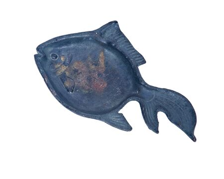 Cast iron fish decoration separated on white background Фото со стока - 62499259