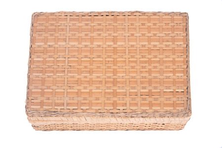 Vintage seagrass box separated on white background Фото со стока - 62499364