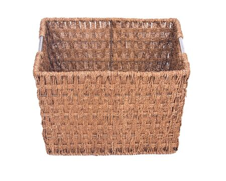 Vintage seagrass storage basket separated on white background Фото со стока - 62499367