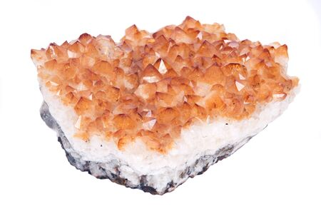 citrine: Citrine natural raw stone separated on white background