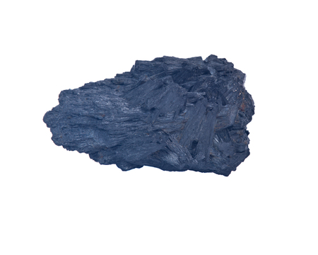 Raw black kyanite separated on white background Фото со стока - 62499459