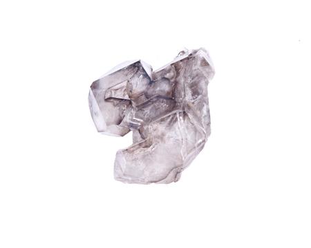 Smoky quartz stone separated on white background Фото со стока