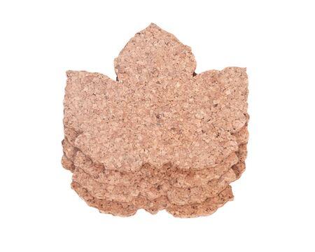Maple kurk bladvorm pads gescheiden op een witte achtergrond Stockfoto
