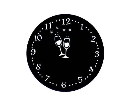 pad: Round pad for new years eve glasses and cups