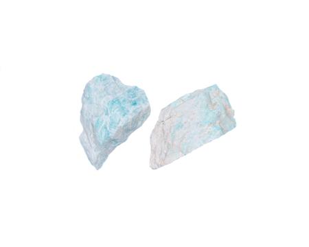 Amazonite chunk from Madagascar isolated on white background Stock Photo
