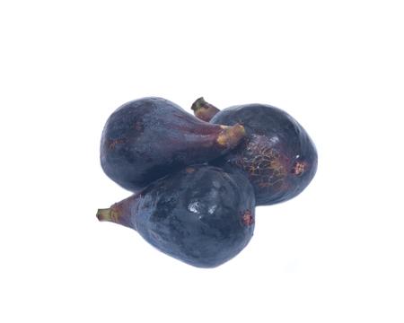 phosphorus: Fresh ripe organic figs isolated on white background