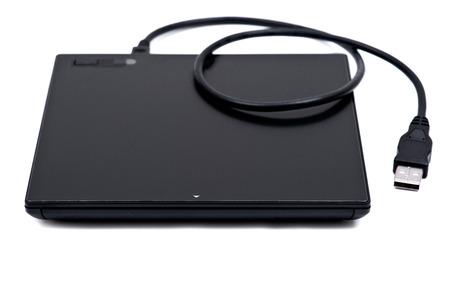 Black ultra thin smart powered portable, external cd, dvd reader writer