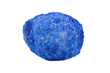 Azurite Partial Nodule from Russia isolated on white background Stock Photo