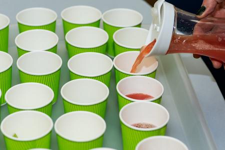 Cooking Class. Refreshing Summer Watermelon Drink preparation.