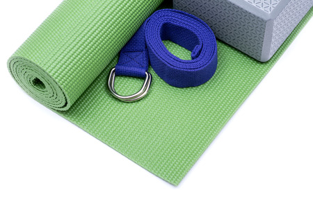 YOGA FOR BEGINNERS KIT (Yoga Mat, Strap, Block)