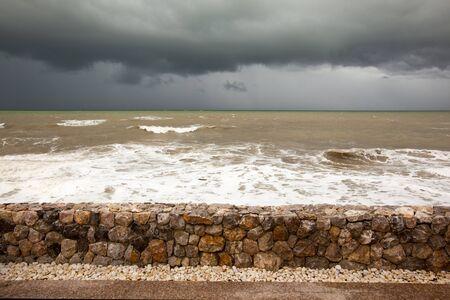 The sea before raining