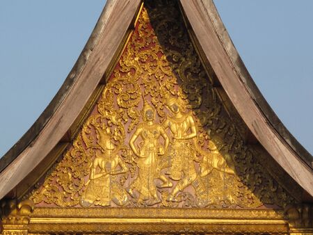 Gable Apex of Thai Temple Stock Photo - 16453708