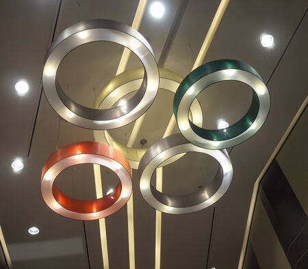 five circle ceiling lamp Stock Photo - 16932125