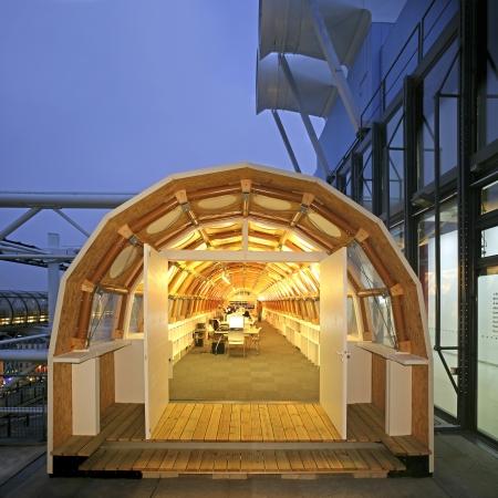 Pompidou center in Paris, France. Editorial