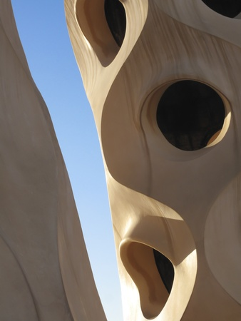 Casa Mila La Pedrera building , Barcelona, Spain Stock Photo - 17308467