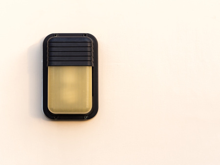 Outdoor lamp on the wall Stock Photo