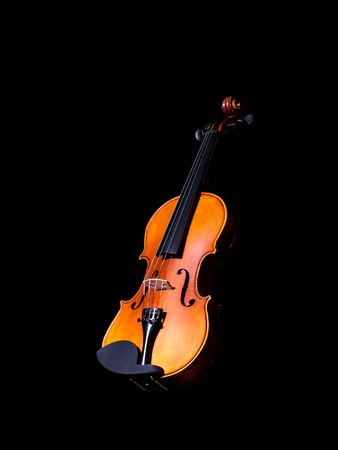 cellos: Violin music instrument of orchestra isolated on black Stock Photo