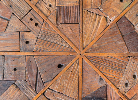 Old wood plank wall background for design and decoration Stock Photo
